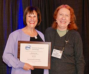 Marjorie Zatz is elected as an American Society in Criminology Fellow.