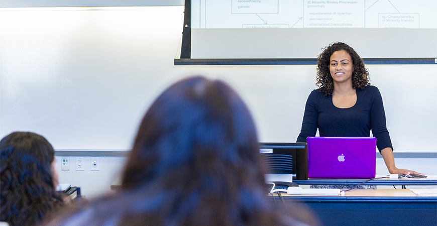 Professor Whitney Laster Pirtle during a class lecture